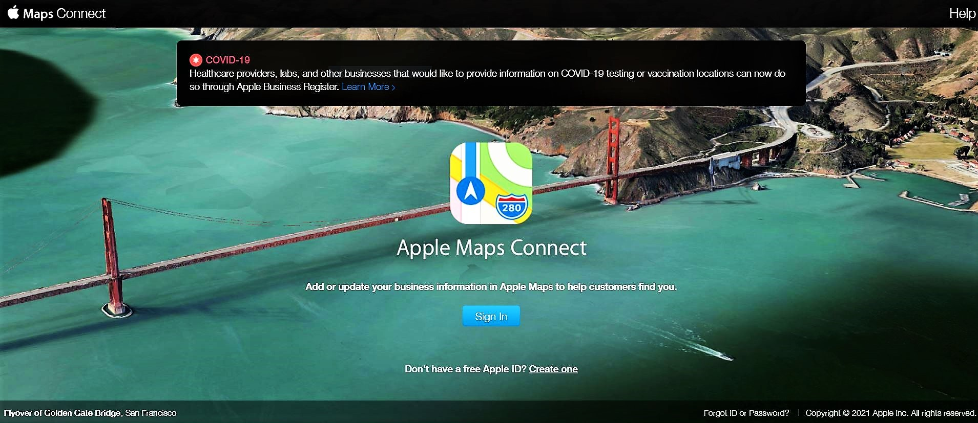 Apple Map Connect